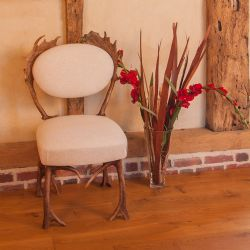 No Footsie Antler Dining Chair Beige